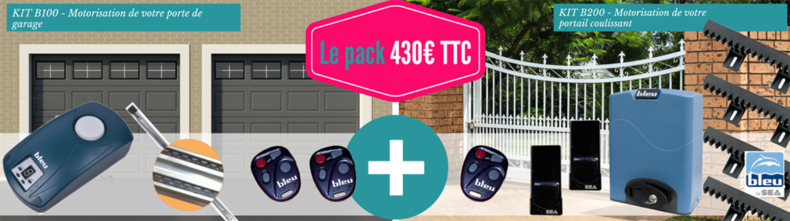 PACK COMPRENANT LES KITS B100 ET B200 BLUE BY SEA