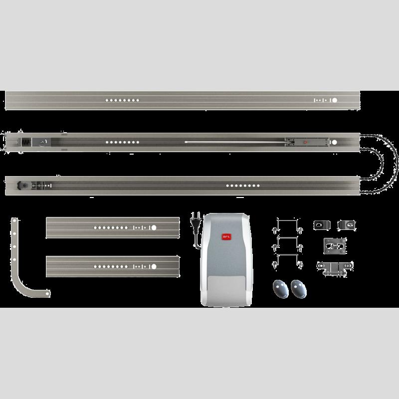 Kit botticelli new bt600 avec rail motorisation porte de for Installation motorisation porte de garage sectionnelle