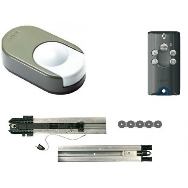 Kit dexxo pro 1000 3s io chaine motorisation porte de - Montage motorisation porte de garage basculante ...