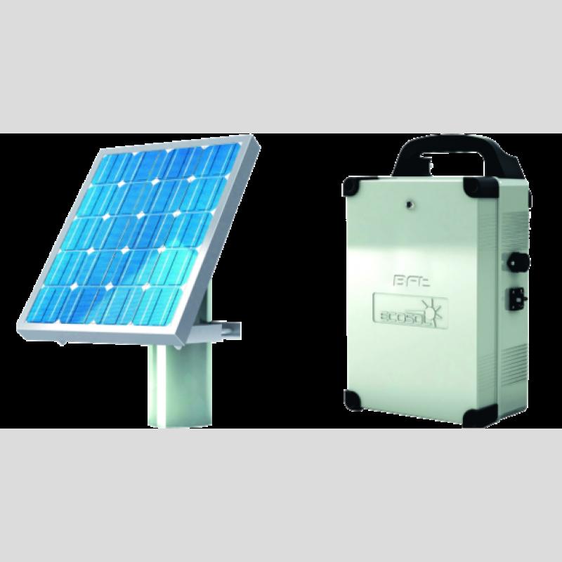 Kit ecosol ensemble complet pour motorisation solaire bft for Lampe solaire pour portail