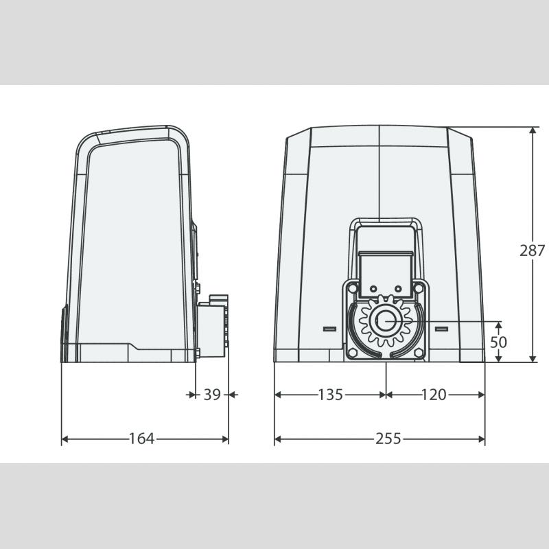 kit deimos bt ultra a400 motorisation portail coulissant. Black Bedroom Furniture Sets. Home Design Ideas
