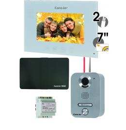 Interphone vidéo - KVA1 + CIBOX ENSEMBLE INTERPHONE VIDEO KIT VILLA CARE-IN EN APPLIQUE AVEC MODULE DE GESTION A DISTANCE CARE-IN BOX SEWOSY