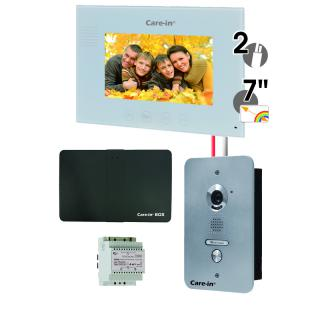 Interphone vidéo - KVE1 + CIBOX ENSEMBLE INTERPHONE VIDEO KIT VILLA CARE-IN A ENCASTRER AVEC MODULE DE GESTION A DISTANCE CARE-IN BOX SEWOSY