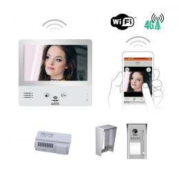 Interphone vidéo - KIT CRYSTALIA VIDEO WIFI 7 POUCES CAMERA SAILLIE AVEC MÉMOIRE