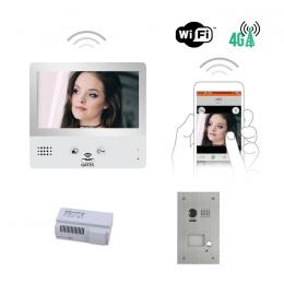 Interphone vidéo - KIT CRYSTALIA E VIDEO WIFI 7 POUCES AVEC MÉMOIRE + CAMERA ENCASTREE
