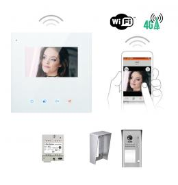 Interphone vidéo - KIT MINI CRYSTALIA VIDEO WIFI 4,3 POUCES CAMERA SAILLIE AVEC MÉMOIRE