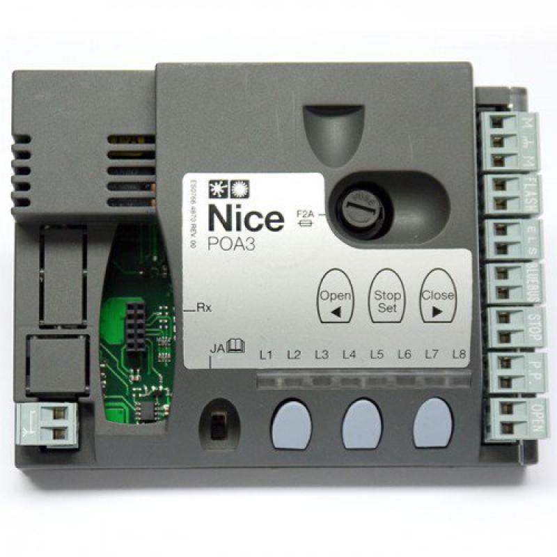 poa3 centrale de commande pour popkit 7124 et hoppkit nice centrales de commande automatisme. Black Bedroom Furniture Sets. Home Design Ideas