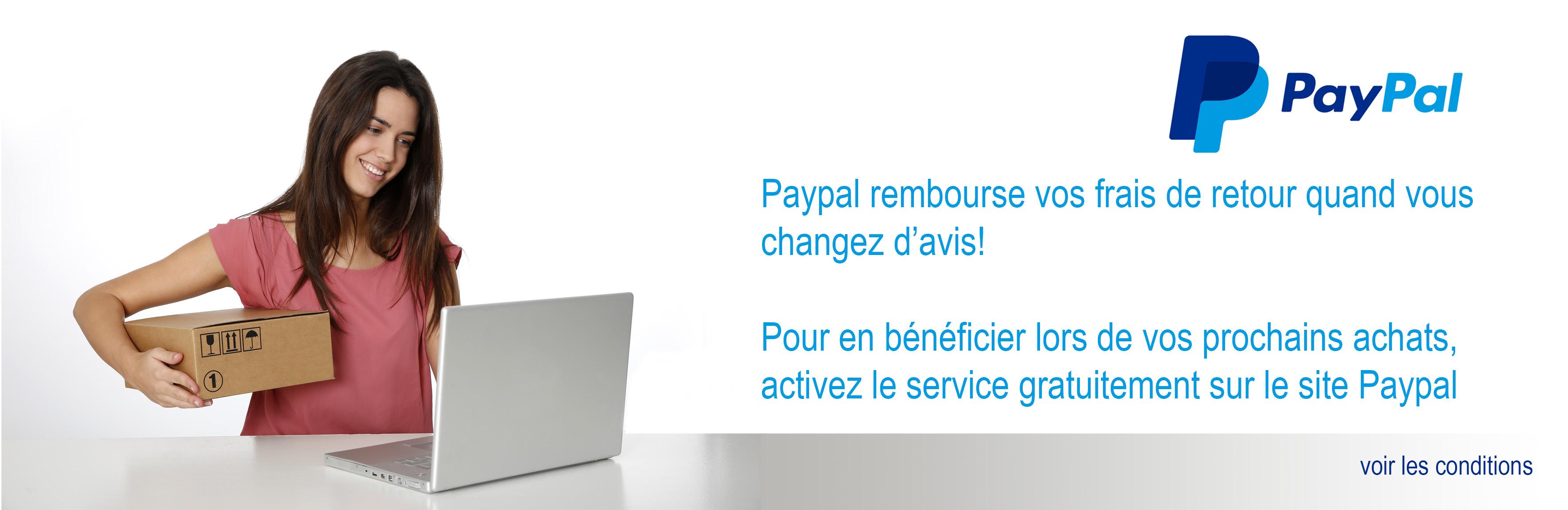 Paypal vous offre les frais de retour en cas de changement d'avis