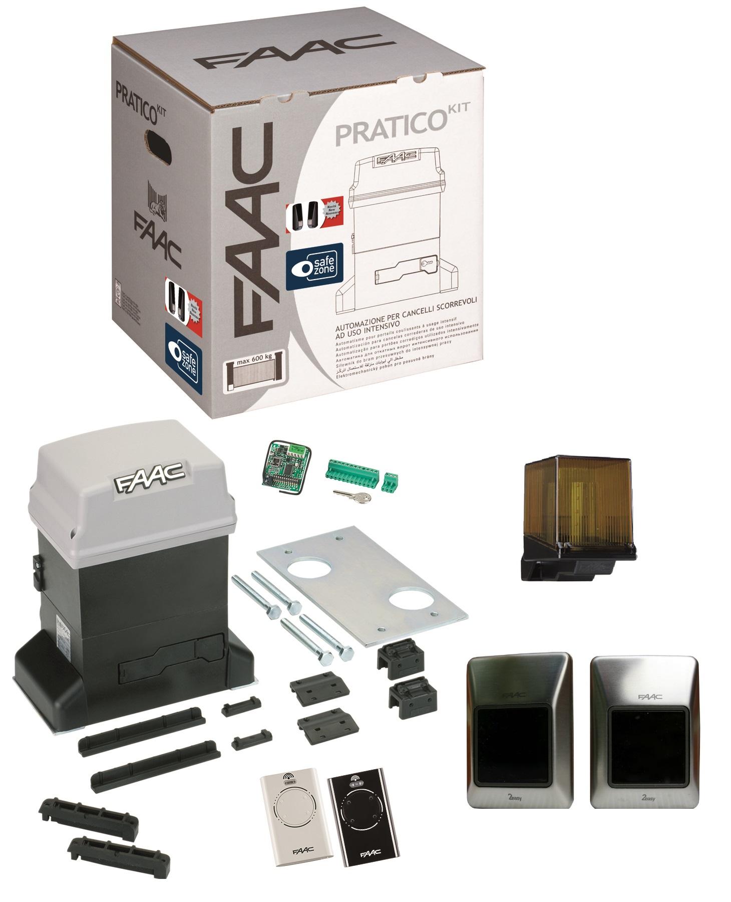 Kit Pratico Plus Integral Motorisation Portail Coulissant Faac 230v